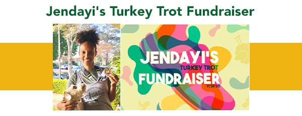 Jendayi's Turkey Trot Fundraiser- image of Jendayi and her l